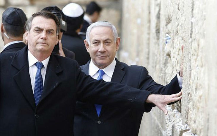 [Vidéo] Jair Bolsonaro et Benjamin Netanyahu visitent ensemble le Kotel à Jérusalem