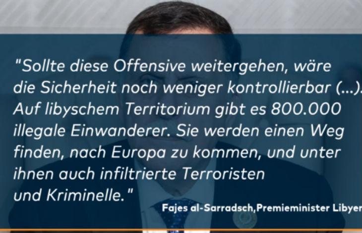 Le Premier ministre libyen appelle les Occidentaux à l'aide : s'ils ne le soutiennent pas, 800.000 migrants y compris terroristes et criminels trouveront un chemin vers l'Europe