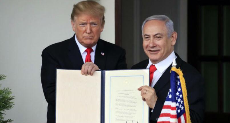 Trump a eu raison de reconnaître la souveraineté d'Israël sur les hauteurs du Golan. Aucun pays Européen n'a jamais restitué une position stratégique conquise au cours d'une guerre