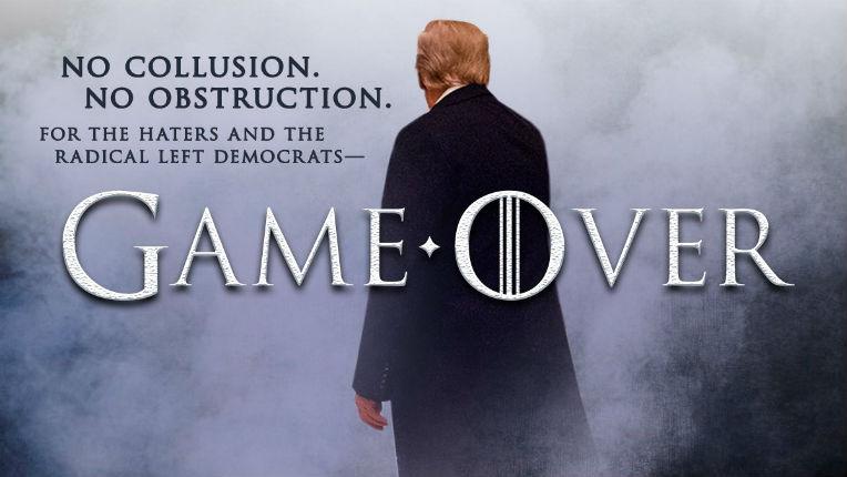 Publications du rapport Mueller : aucune collusion avec la Russie, aucune entrave ! Game over : Trump triomphe. Les Démocrates et les médias ridiculisés