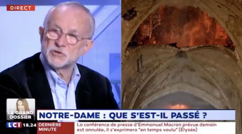 L'ingénieur chef de Notre-Dame sur la thèse de l'accident : « Je suis stupéfait ! Du vieux chêne qui a 800 ans ça ne brûle pas comme ça, il faut beaucoup de petit bois pour le faire brûler » (Vidéo)