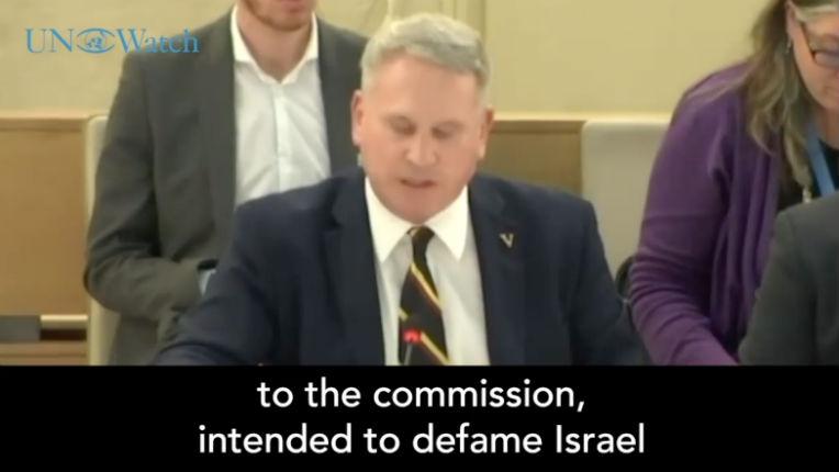 Le colonel Richard Kemp de l'armée britannique met en pièces le rapport de l'ONU «J'accuse ce conseil d'avoir confié à la commission un mandat délibérément partial, destiné à diffamer Israël» (Vidéo)