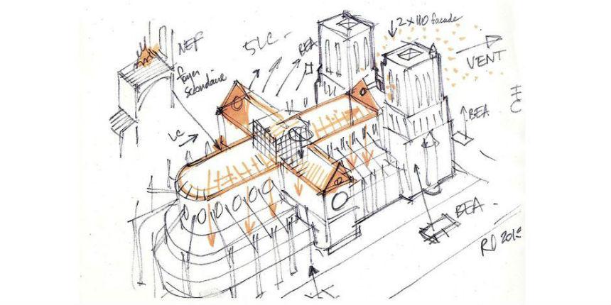Notre-Dame de Paris : le dessin qui a aidé les pompiers le soir de l'incendie évoque un deuxième foyer