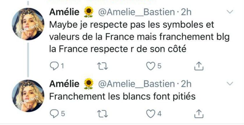 Une ex-présidente de l'UNEF Limoges au coeur d'une polémique après avoir validé les propos anti-français d'Hafsa Askar : « Franchement les Blancs font pitié »