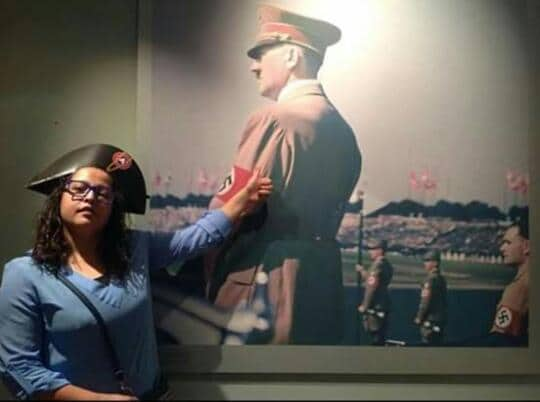 Tunis: une journaliste pro-palestinienne,Mona Bouazizi,rend hommage à Hitler