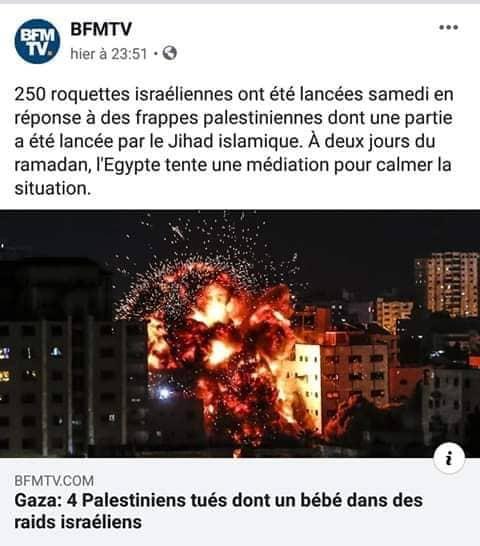 BFM roquettes israéliennes