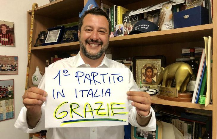 Européennes : la Ligue de Matteo Salvini, allié d'Israël, devient le premier parti d'Italie