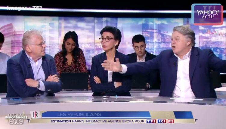 """[Vidéo] """"Ignoble ordure, connard"""" : Collard et Cohn-Bendit s'insultent en direct lors des résultats des Européennes"""