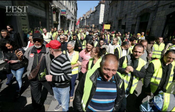 gilets jaunes Besançon commissariat