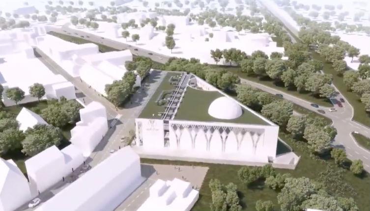 la future mosquée An-Nour de Mulhouse