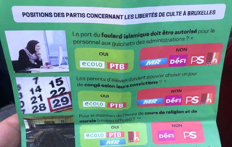 tract écolo Belgique