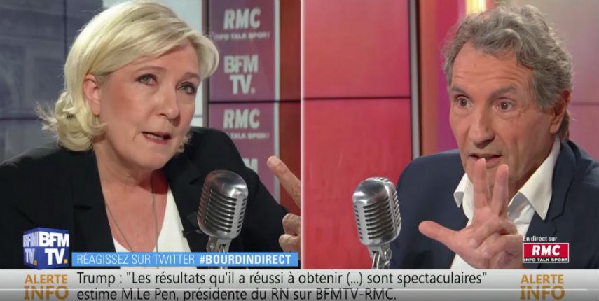 Marine Le Pen : «On est en pleine psychose climatique donc EELV est poussé mais beaucoup ne savent pas qu'ils sont pour une immigration totale» (Vidéo)