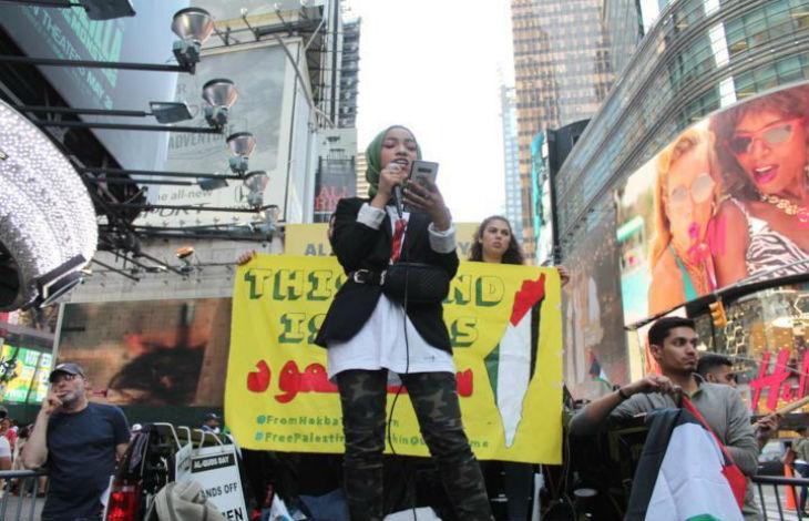 Les Palestiniens à Times Square, New York : «Nous ne voulons pas de deux Etats ! Nous voulons tout ! Israël n'existe pas !» (Vidéo)