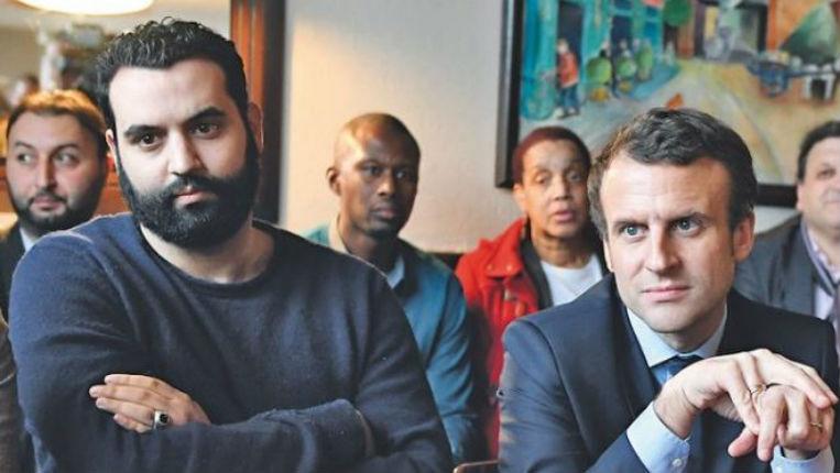 Yassine Belattar et Macron