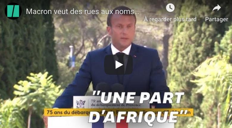 Macron appelle à renommer des rues en hommage aux soldats africains