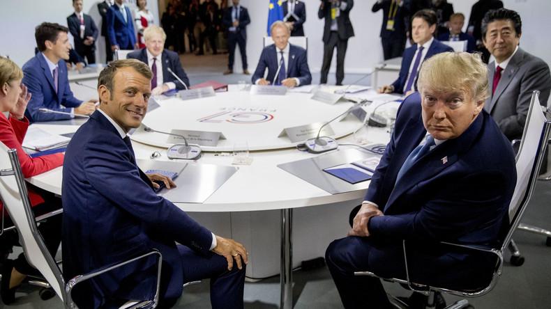 Macron recadré par Trump