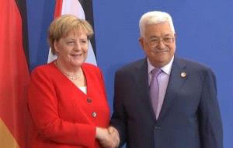 Merkel et Abbas