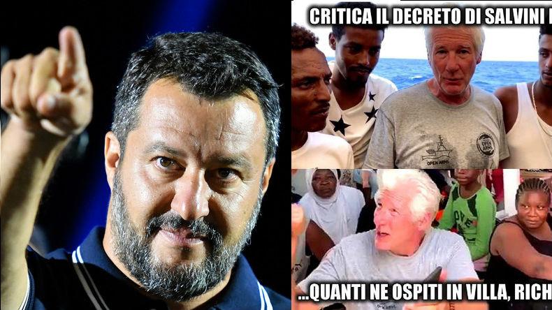 Salvini vs Richard Gere
