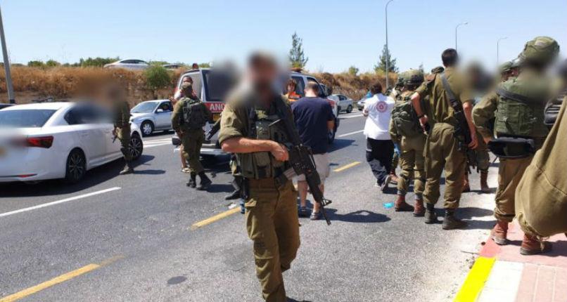 Tsahal en Judée attaque voiture bélier