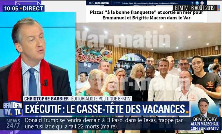 christophe barbier Macron pizzeria