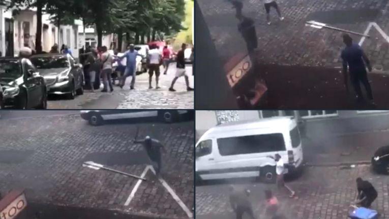 Allemagne : rixe géante entre 50 migrants armés de machette, couteaux et panneaux de signalisation (Vidéo)