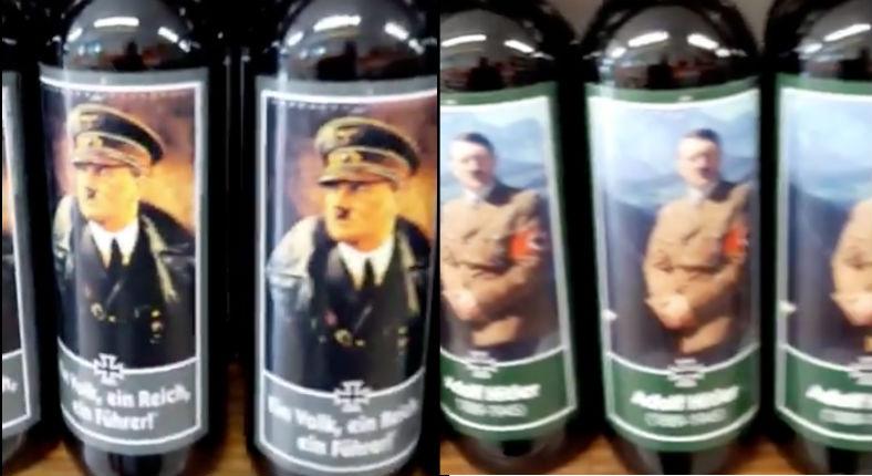 «Les vins hitlériens» : Une étagère remplie de vins avec des étiquettes célébrant le dictateur nazi en Italie (Vidéo)