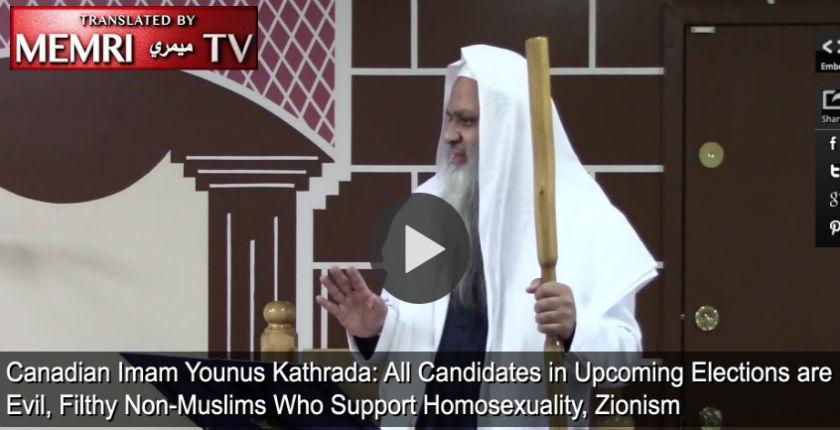 L'imam Younus Kathrada : «Tous les candidats aux prochaines élections sont de sales et mauvais non-musulmans qui soutiennent l'homosexualité et le sionisme» (Vidéo)