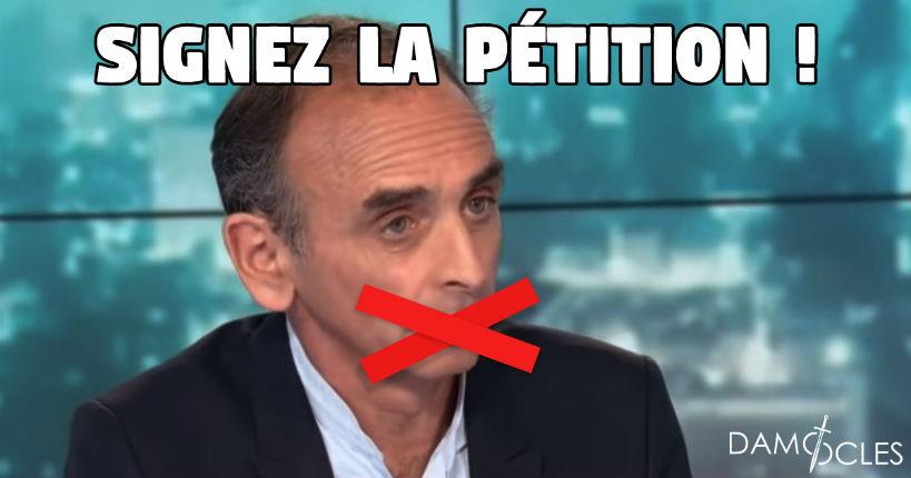 Pétition en soutien à Eric Zemmour: «Je soutiens Zemmour. Non à la censure, oui à la liberté d'expression»