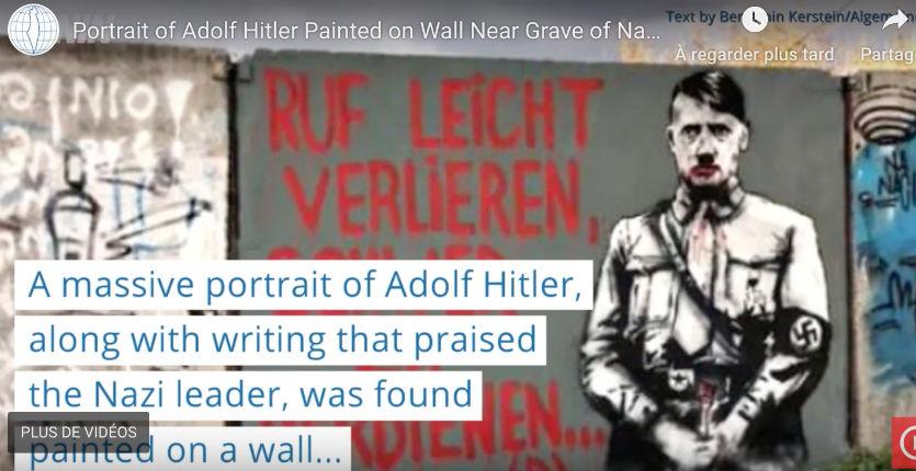 Ukraine : Un portrait d'Adolf Hitler peint sur un mur près de la tombe du Nahman de Breslev (Vidéo)