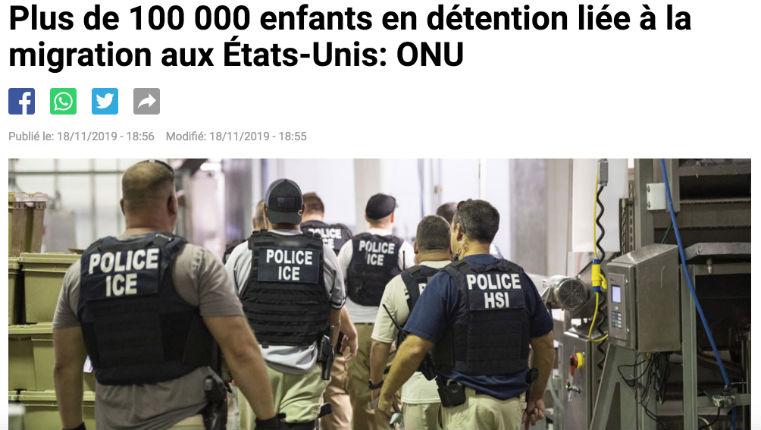 Fake news : Selon l'AFP et Reuters «100.000 enfants migrants en détention aux USA». S'apercevant que les chiffres dataient d'Obama, ils suppriment la dépêche