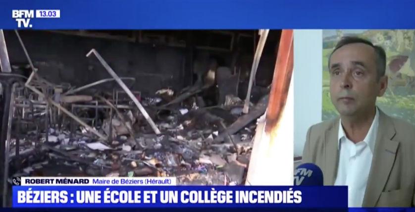 Halloween à Béziers : « De véritables scènes de guérilla urbaine », collège, gymnase et école incendiés, tirs de mortiers sur la police et les pompiers (Vidéo)