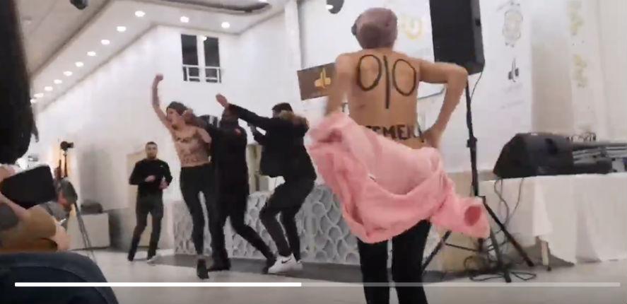 Des Femen perturbent une conférence de l'islamiste Tariq Ramadan à Saint-Germain-les-Corbeil (Vidéo)