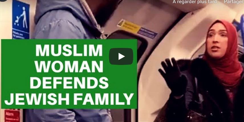 Londres : une femme musulmane défend une famille juive agressée par un homme noir (Vidéo)