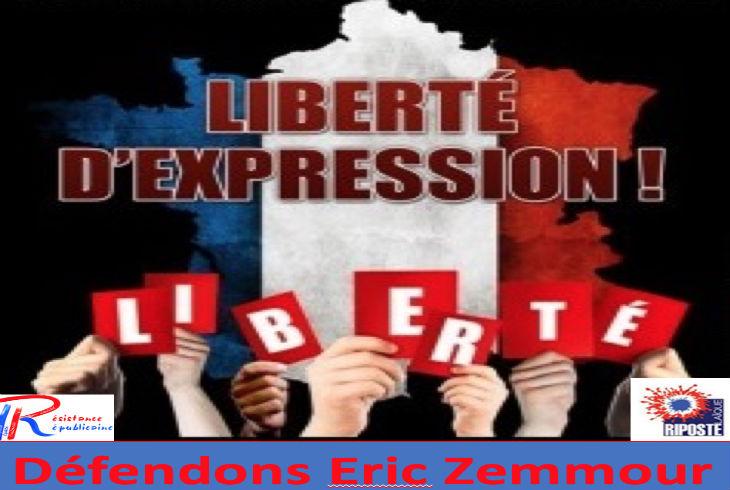 Rassemblement pour défendre la liberté d'expression d'Éric Zemmour, devant CNews le 10 novembre