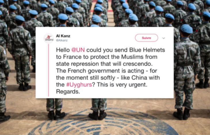 Le site musulman Al Kanz demande à l'ONU le déploiement de casques bleus en France pour « protéger les musulmans »