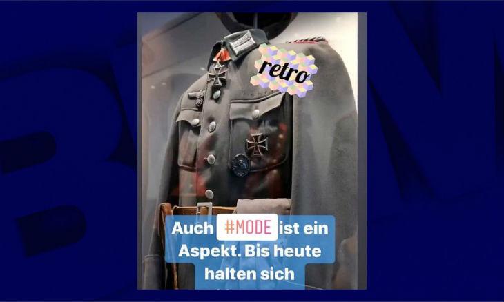 L'armée allemande publie une photo d'uniforme nazi sur Instagram estimant que c'était de la «la haute couture»
