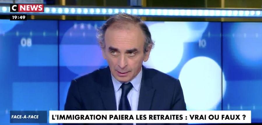 Éric Zemmour face à Denis Olivennes : « Plutôt que de faire une politique nataliste, on nous dit qu'il faudrait faire venir des immigrés… Ils ne paieront pas nos retraites par répartition » (Vidéo)