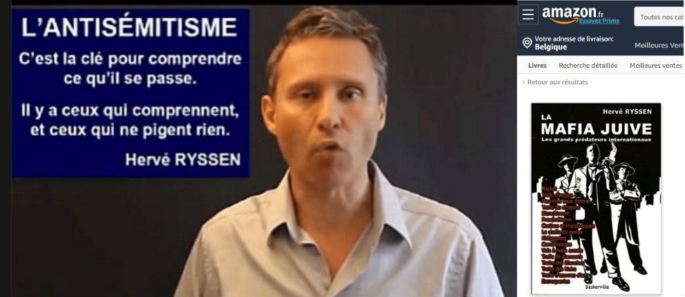 Les livres de l'antisémite Hervé Ryssen promus et vendus sur Amazon.fr