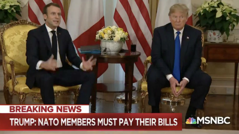A l'instant : Trump a mouché Macron. « Si vous voulez de beaux combattants d'ISIS, je peux vous les donner »