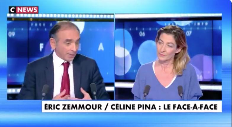Éric Zemmour face à Céline Pina : «Il faut supprimer le droit du sol car ça favorise ce que j'appelle l'invasion migratoire» (Vidéo)