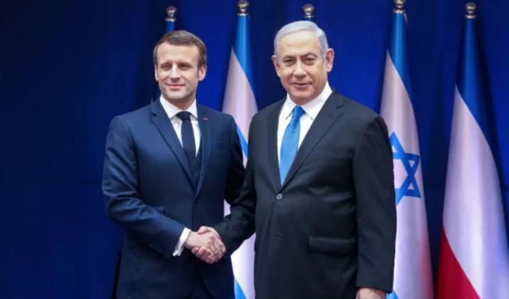 Netanyahou appelle Macron à prendre des sanctions «La France devrait sanctionner l'Iran, à la lumière de son enrichissement d'uranium et de ses agressions au Moyen-Orient»