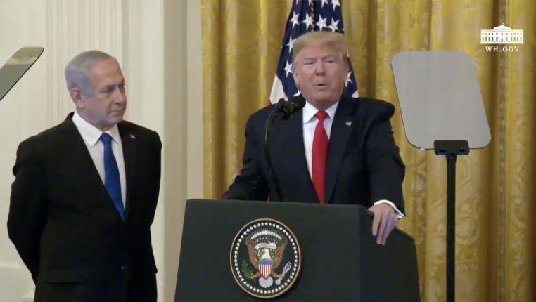 Live: Donald Trump dévoile son plan de paix pour le Proche-Orient, aux côtés de Netanyahu, «une chance de favoriser la paix» (Vidéo)