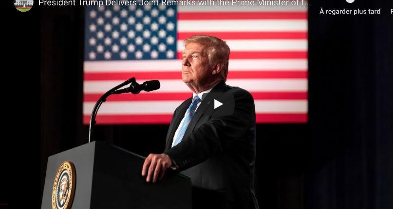 Live, plan de paix : Trump « Jérusalem restera la capitale indivisible d'Israël » (Vidéo)