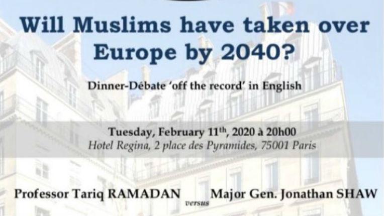 Débat avec Tariq Ramadan « Les musulmans auront-ils pris le contrôle de l'Europe en 2040 ? »