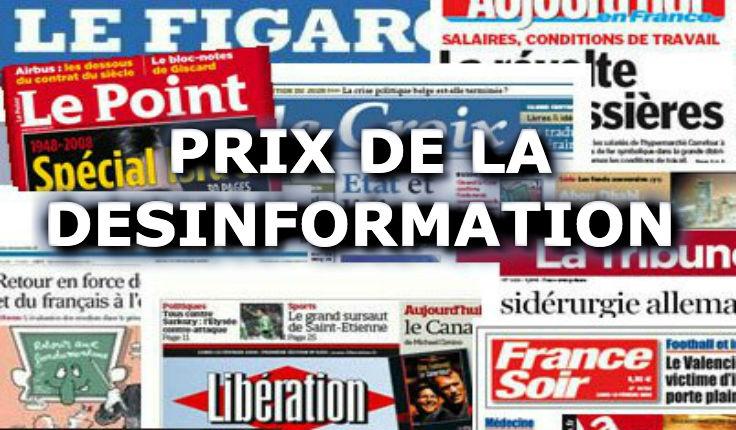 Les Grands prix de la désinformation 2019 : Le Monde, Libération, l'AFP, BFMTV, RTL, France Inter… remportent tous un prix de la désinformation !