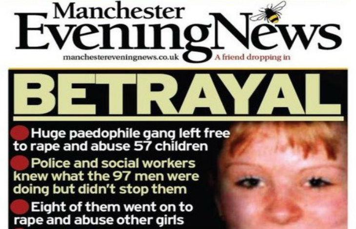 Manchester : 57 filles exploitées sexuellement par un réseau de 100 pédophiles pakistanais. La police a ignoré l'affaire par peur d'être taxée de racisme