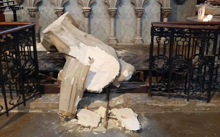 Plusieurs statues de la Vierge vandalisées et détruites dans des églises de Pau et du Béarn