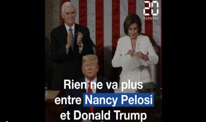 États-Unis: la démocrate gauchiste Nancy Pelosi déchire le discours sur l'état de l'Union de Donald Trump