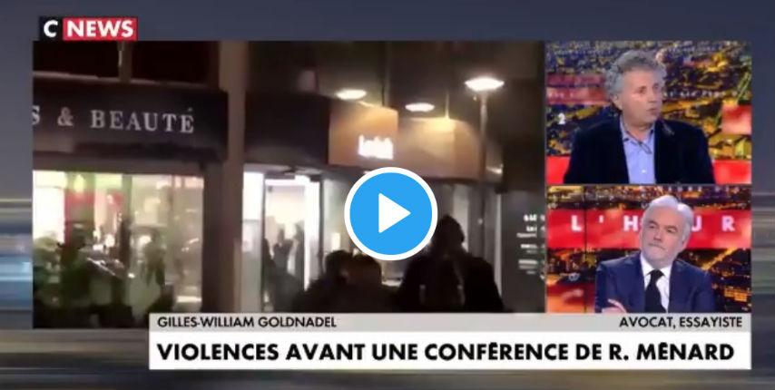 Gilles-William Goldnadel : «Aujourd'hui, le vrai visage du fascisme est incarné par l'extrême gauche, idéologie qui utilise la violence de manière récurrente et qui ne fait pas l'objet d'une répulsion médiatique.» (Vidéo)