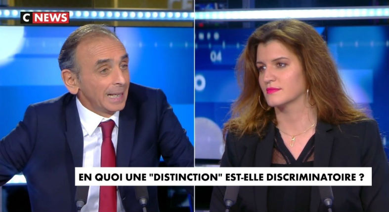 Zemmour accuse Schiappa  de fabriquer des victimes «Appeler son enfant Mohammed, porter le voile, continuer à parler arabe dans la rue, ce n'est pas être discriminé en France. C'est s'autodiscriminer, c'est refuser la France»